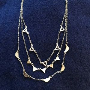 Silver Stella and Dot pave chevron necklace.